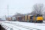 Grand Elk heads back north after working Elkhart yard